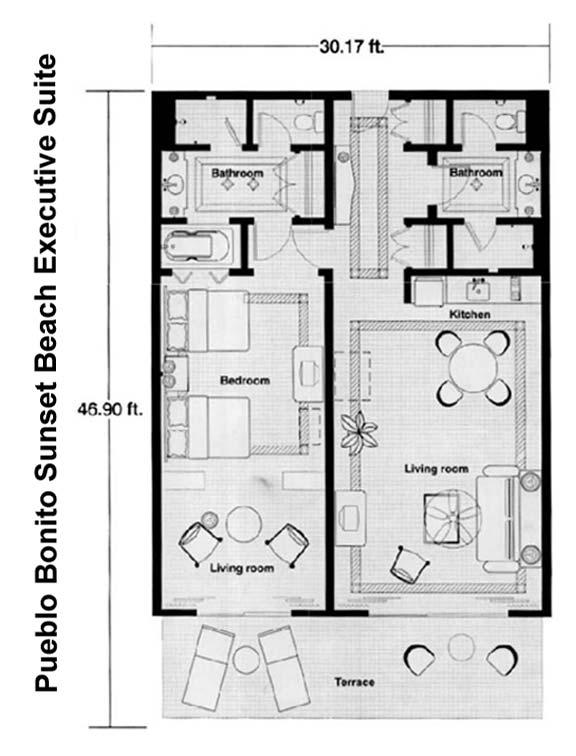 pueblo bonito sunset beach executive suite floor plan